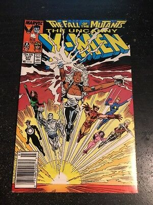 """Uncanny X-men#227 Incredible Condition 8.5(1988)""""Fall Of Mutants""""!"""