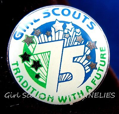 1987 Girl Scout PIN 75th Anniversary Tradition with Future Collector Multi=1 Shp
