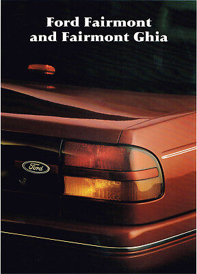 Ford Fairmont & Ghia Eb Booklet 8 1991 Brochure Good Condition