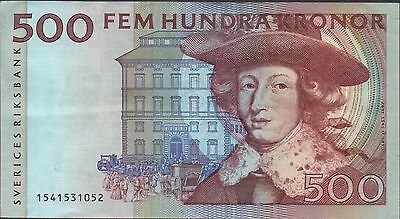 Sweden 500 kronor 1991  P 59a   Circulated Banknote