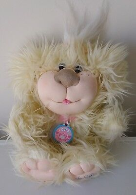 2005 CABBAGE PATCH KIDS Lovable Pets PATCH PUPPIES cream plush shaggy dog