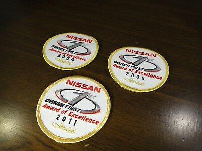 NISSAN Gold Award of Excellence 2004 2005 2011 Patch 1st Owner First - Lot of 3