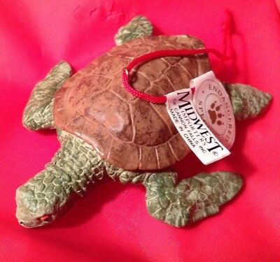 "Sea Turtle Ornament - Endangered Species - Midwest Cannon Falls - 3"" Long"