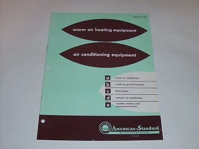 Vintage Catalog 1960 American Standard Heating & Air Conditioning Catalog