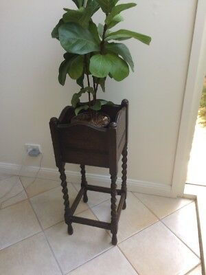 OAK timber with barley twist legs, plant stand