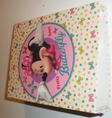 MINNIE MOUSE bow-tique photo album SEALED NEW pretty bows butterfly