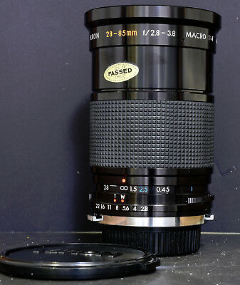 Kiron 28-85mm f2.8-3.8 Lens for Olympus OM Film Cameras