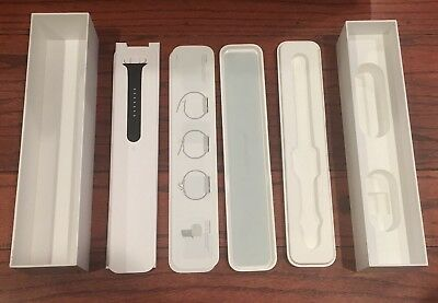 Apple Watch Box and Case with Black Sport Band Only 42mm Space Grey 7000 Series