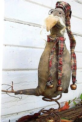 Primitive Doll Pattern Old Winter Crow