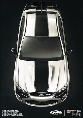 Ford Fpv Gt-F Gtf Gt F 351 V8 Double Side A2 Poster Not Brochure Excellent