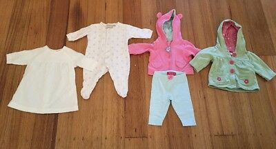 Marquise + Sprout. Baby Girl Bulk Bundle 000 (3 Months). 5 Items