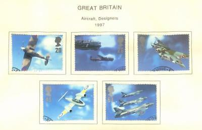 1997, Aircraft - set of used stamps from the UK