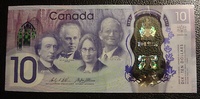 CANADA $10 / POLYMER 2017 Commemorative 150 Years / Circulated condition, VF