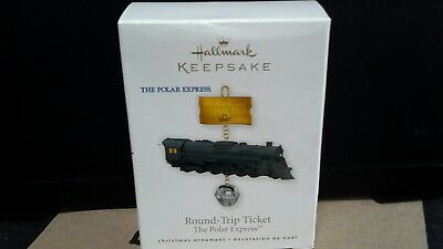 Hallmark ornaments 2010- round trip ticket -The Polar Express