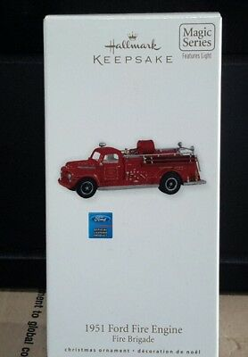 Hallmark Ornament - 1951 Ford Fire Engine