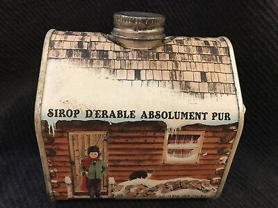 VINTAGE Empty Vermont Absolutely Pure Maple Syrup tin NICE RUSTIC GRAPHICS !