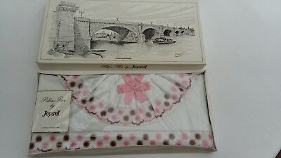 Joysel vintage pair of cotton pillowcases, boxed (new)