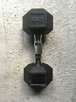 20lb Rubber Coated Hex Dumbbell (pair)