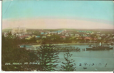 Postcard - Manly, Showing Ferry, Sydney, NSW, Australia - 1907