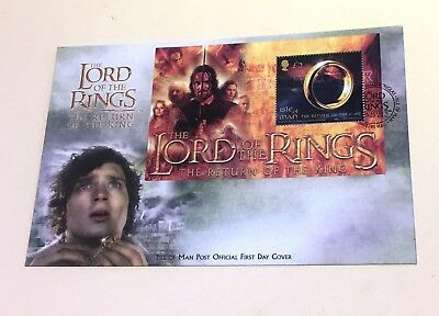 Isle of Man Stamps Lord of The Rings First Day Cover