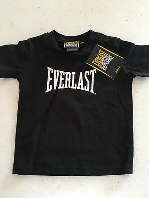 Everlast Black Tshirt - Baby Boy - Size 00. New With Tags