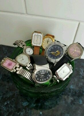 Bulk Lot Bundle Vintage Watches Some Need Battery's Others Spare Parts Used Cond