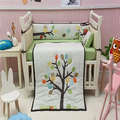 Arbor Friends 7 Piece Crib Bedding Set Baby Nursery Bedding Cot Set