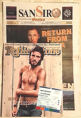 Bruce Springsteen - Musical Magazine - Ticket - Italian Concert S.Siro Milano