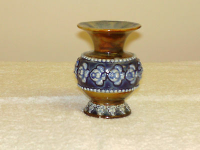 "Doulton Lambeth ""Hannah Barlow"" Small Vase.  New  Photos."