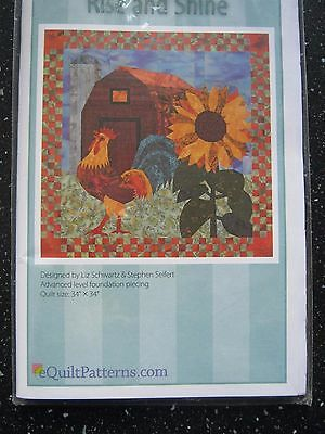 """Quiltmuster """"Rise and Shine"""" – Hahn und Sonnenblume"""