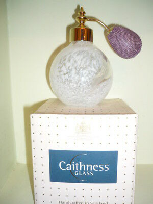 Caithness glass paperweight limited Scotland perfume Bottle atomizer