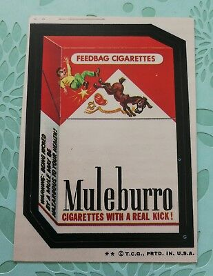 Wacky Packages Card Muleburro Tan Back 1974 2 Star Printing Error Card