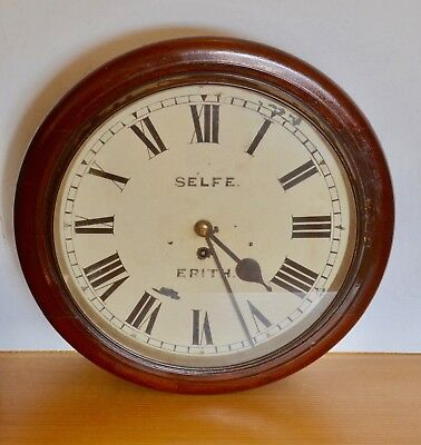 14 inch fusee dial clock by Selfe of Erith Working Astral Movement Coventry