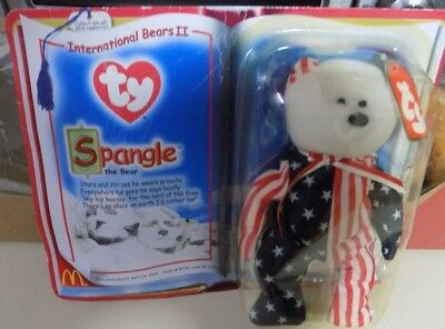 "Rare TY Beanie Babies ""Spangle The Bear"" 1999 New In Original Package"