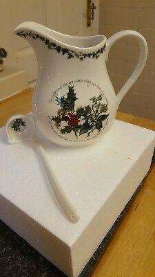 Portmeirion the holly and the ivy jug and ladle set