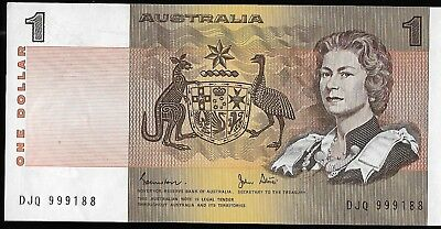 AUSTRALIA $1  One  Dollar NOTE -VERY FINE UNCIRCULATED  CONDITION (No 2)