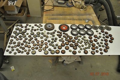 """Large Lot Of Assorted Sizes Wire Wheels All Brand New """"old Stock"""" U.s.a. Made!!!"""