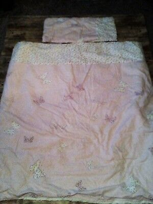 Laura Ashley Bella Butterfly Fabric Cot Bed Quilt Hand Made
