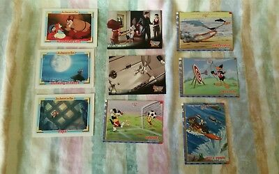 Lot of 9 mixed Trading Swap Cards - An American Tail & Looney Tunes Excellent