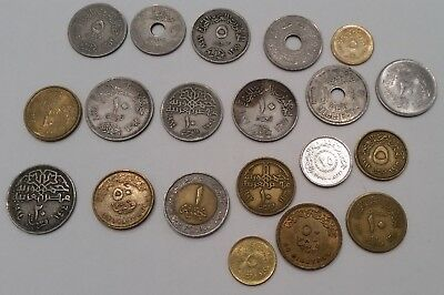 Egyptian coins from Egypt  20 different pieces