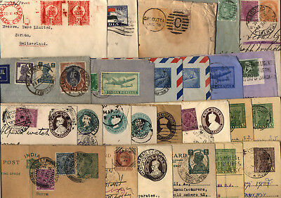 Lot 78 Cover India Indien Reg. Letter Meter Mark Stationery Aerogramme Postcards