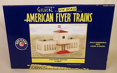 """American Flyer #6-49839 """"s"""" Gauge #793 Union Station-New In Original Box!"""