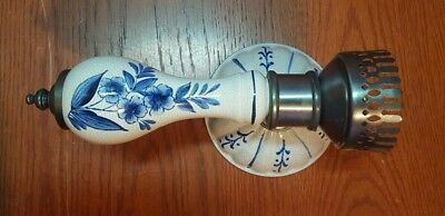 Vintage Blue And White Floral Porcelain Wall Lamp Sconce