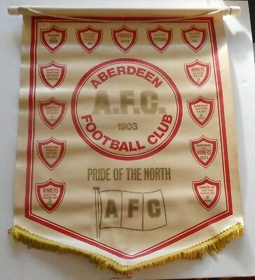 Vintage Aberdeen Afc Football Club Scottish League Flag Pennant Not Badge