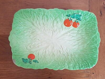 Beswick Large Vintage Lettuce Leaf Ceramic Serving Plate