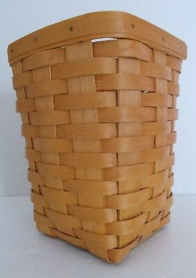 Beautiful Longaberger Basket, Tall, Square 2002 Handwoven & Signed EXC!