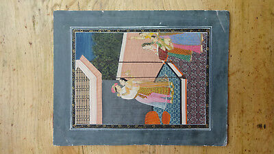 Mughal Persian Indian antique original painting on paper