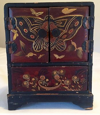 IMPERIAL CHINESE JEWELRY BOX WOOD  (late 1800's) ANTIQUE