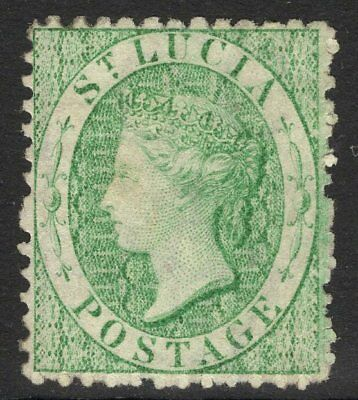 ST.LUCIA SG8 1863 6d EMERALD-GREEN UNUSED