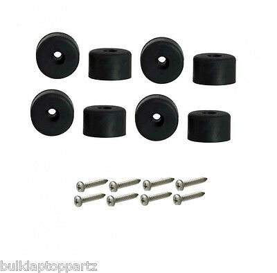 "Lot of 8 Rubber Bumper Feet 1/"" Dia Screws /& Metal Washer Built-In 1//2/"" H"